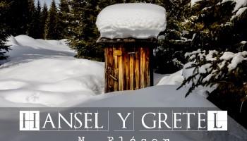 Retrete de madera en medio de la nieve. El relato se llama: Hansel y Gretel.
