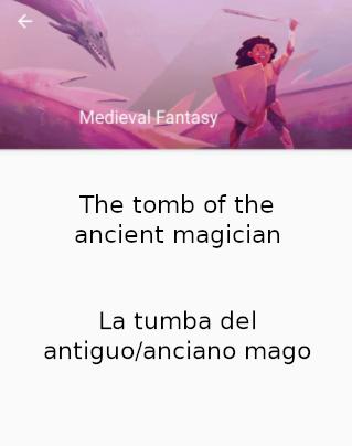 """Captura de pantalla de la aplicación What to Draw, nos propone el tema """"La tumba de un antiguo mago""""."""