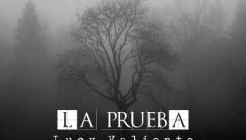 En el centro de la foto vemos un árbol casi desprovisto de hojas. Estamos en un bosque pero debido a una niebla muy espesa a penas se pueden ver los árboles que rodean al central. El relato se titula: La prueba, y está escrito por Lucy Valiente.